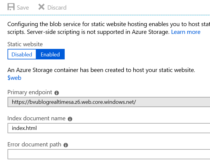 Sending IoT data real-time to the browser with Azure IoT Hub, Azure