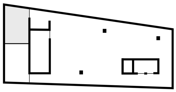 Floor plan with styled space