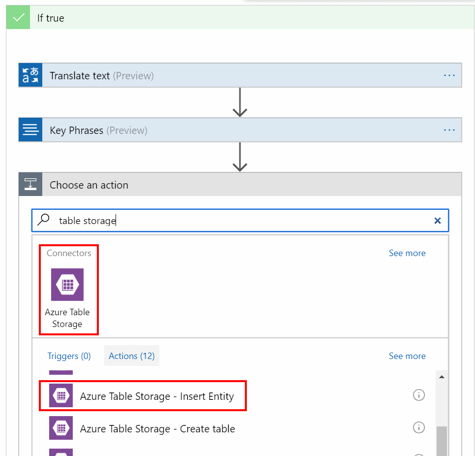 Connect to Azure table storage and insert entity